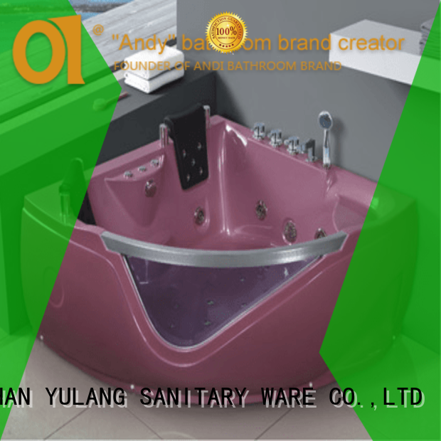 ANDI stable triangle bathtub supplier for hotel