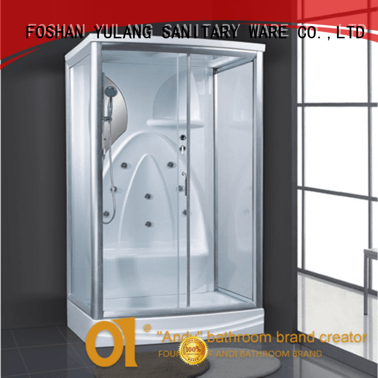 High quality sanitary ware rectangular white acrylic 2 person outdoor steam room sale AD-939