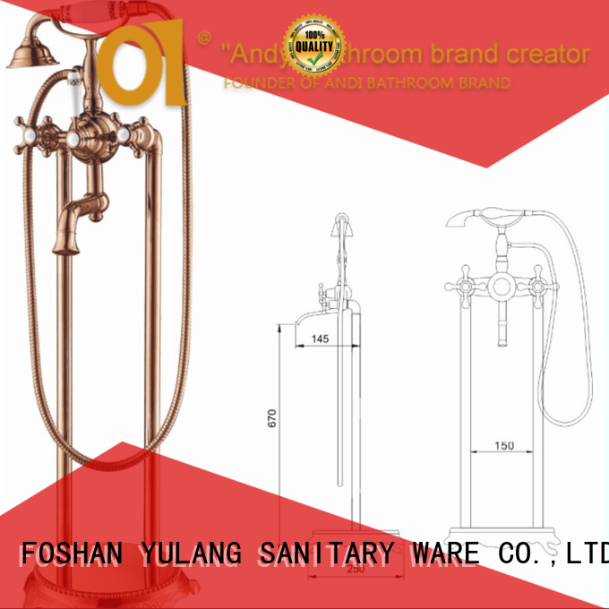 ANDI durable bronze bathroom faucet factory price for rest room