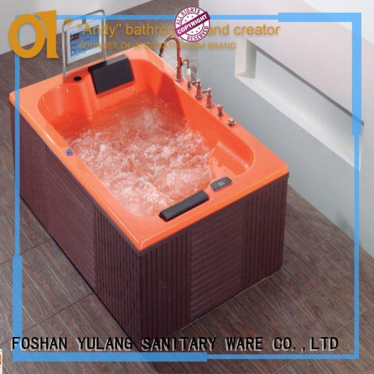 long lasting free standing bath tubs with TV for hotel