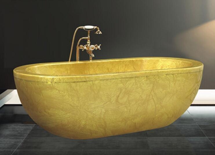 Cheap freestanding bathtub malaysia fico apollp massage bathtub gold acrylic bath AD-6632-1