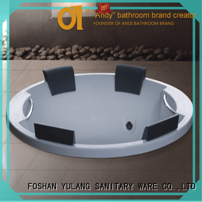 exquisite acrylic soaker bathtubs for villa ANDI