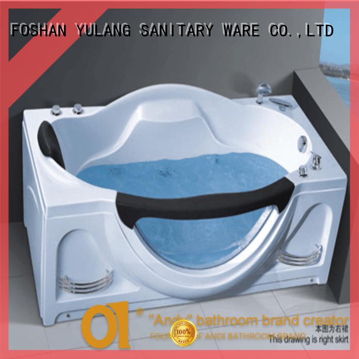 New design of massage spa 1700 whirlpool jets bathtub bathtub with armrest AD-640