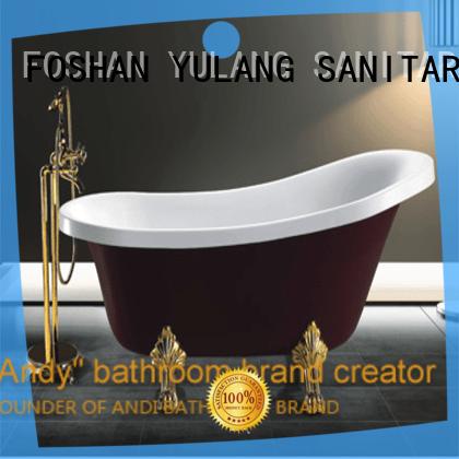 Indoor Brand New Irregular Ordinary Acrylic Bathtub Freestanding White Acrylic Vintage Tub AD 6654