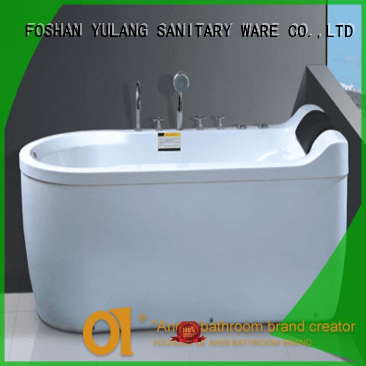 Corner Air Bubble Round Bathtub AD-667