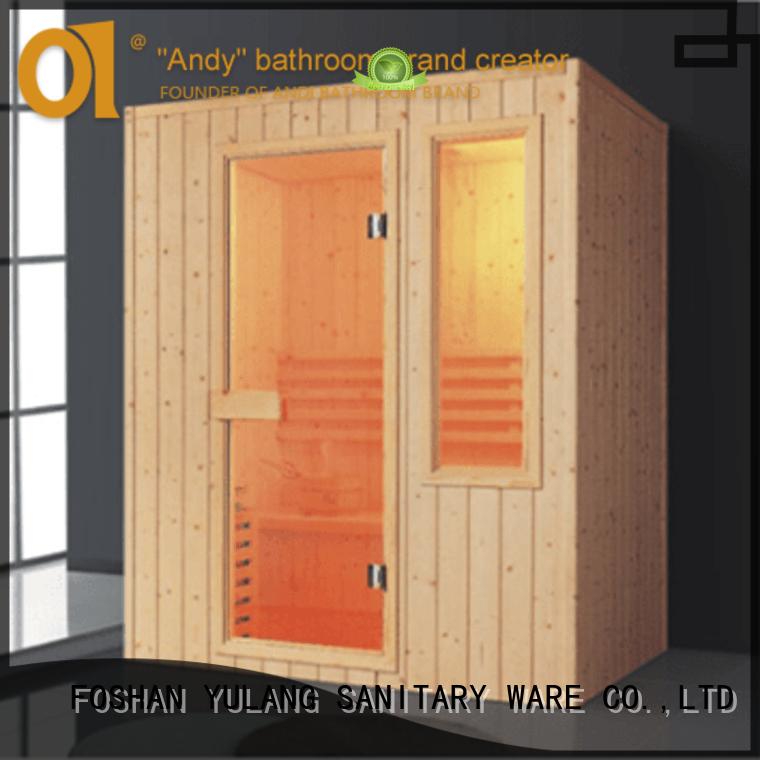 ANDI wooden sauna spa factory price for Villa