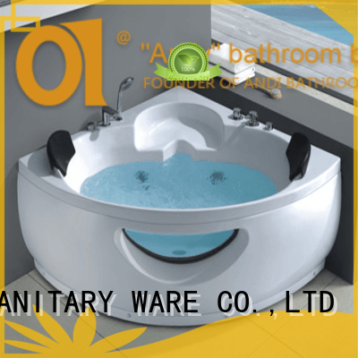 ANDI top triangle jacuzzi tubs factory price for hotel
