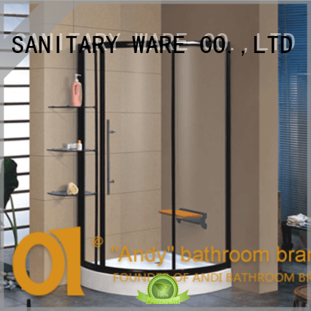 ANDI clean glass shower screen with tub for hotel