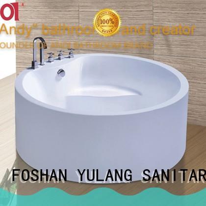 ANDI wooden round freestanding bathtub wholesale for villa