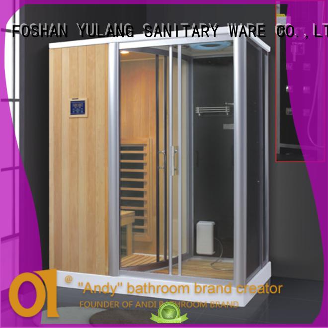 Sauna shower combination findland wood steam bathroom steam shower sauna combos AD-944