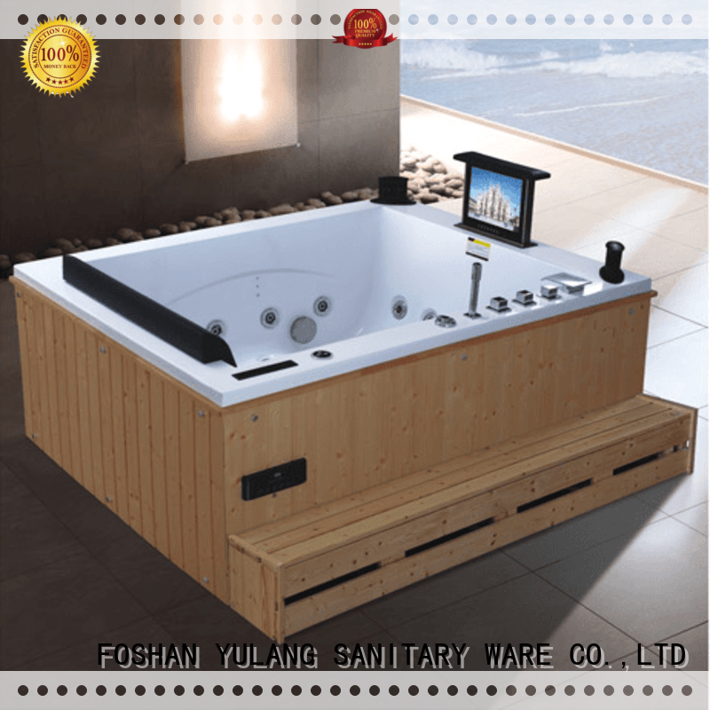 Hot freestanding tub with shower prices ANDI Brand