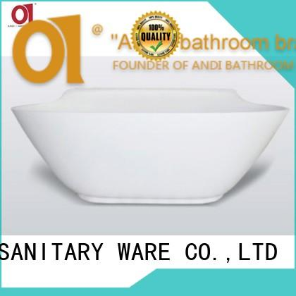 ANDI multi function free standing bathtub with floor standing for apartment