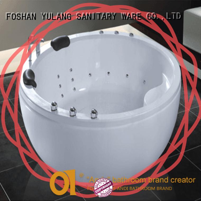 ANDI elegant round tub supplier for hotel