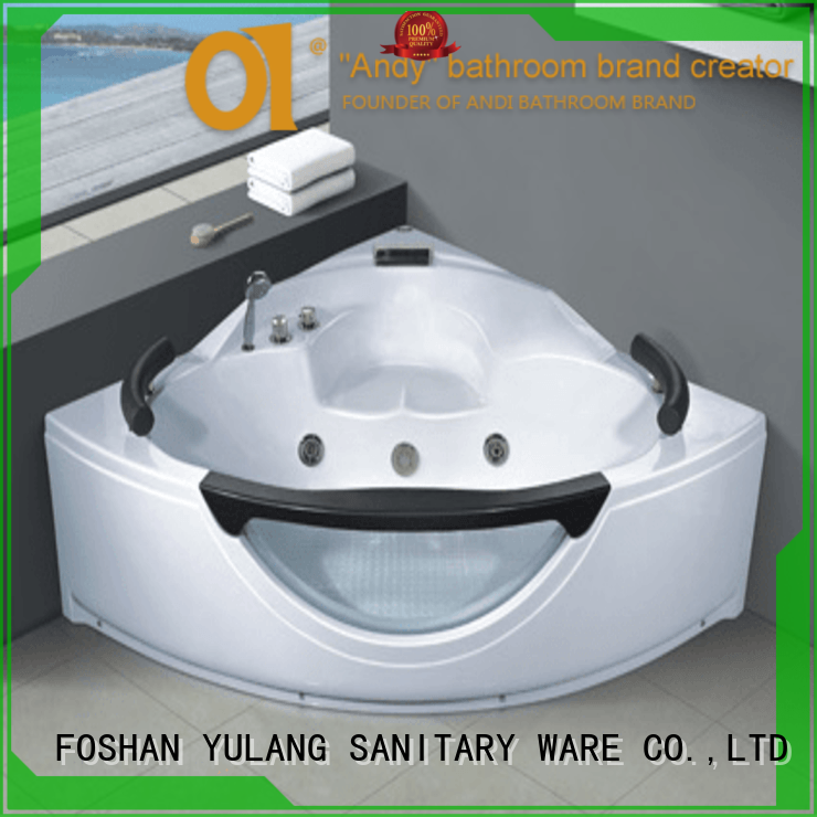 stable triangular bathtubs supplier for two person