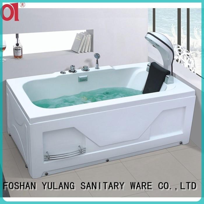 acrylic tub shower units installation for hotel ANDI