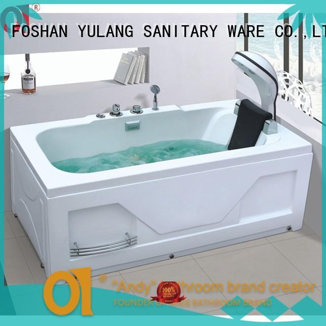 tub massage square ANDI Brand acrylic bathtub