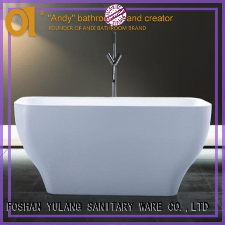acrylic freestanding bath dimensions wholesale for hotel ANDI