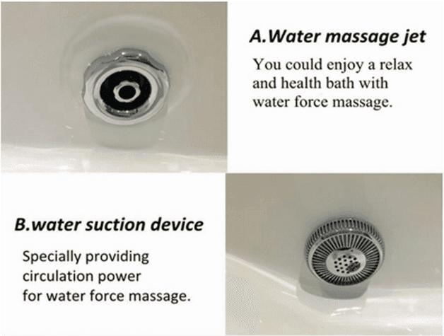 Cheap freestanding bathtub malaysia fico apollp massage bathtub gold acrylic bath AD-6632-3
