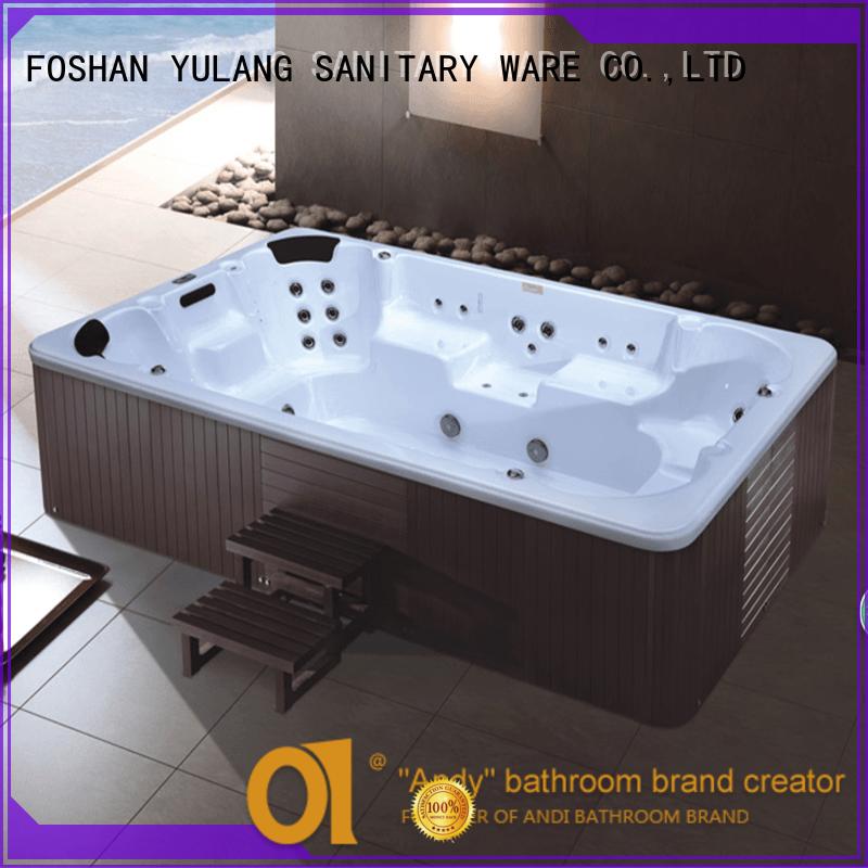 wood spa baths supplier for villa ANDI