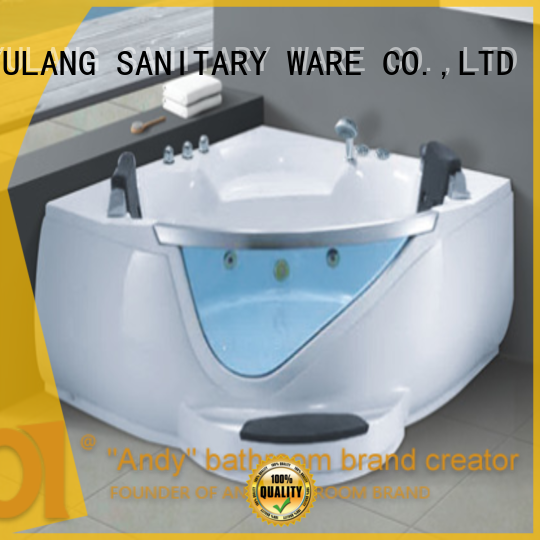 ANDI sturdy triangle bathtub factory price for apartment
